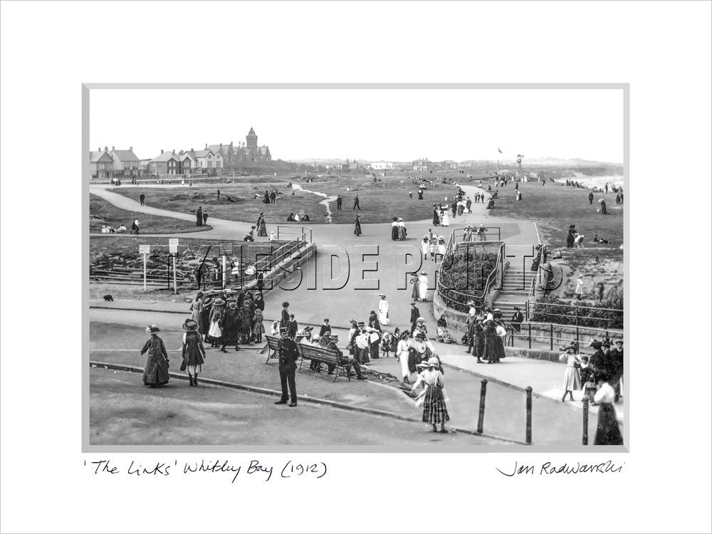 The Links Whitley Bay 1912 Mounted Fine Art Print