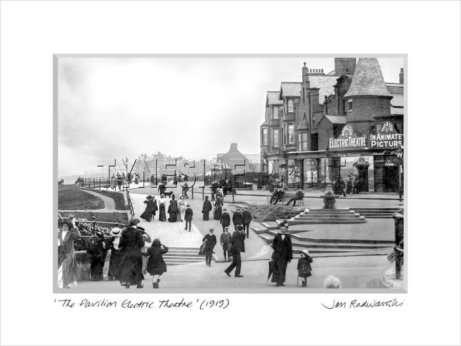 The Pavilion Electric Theatre Whitley Bay 1919 - Mounted Fine Art Print