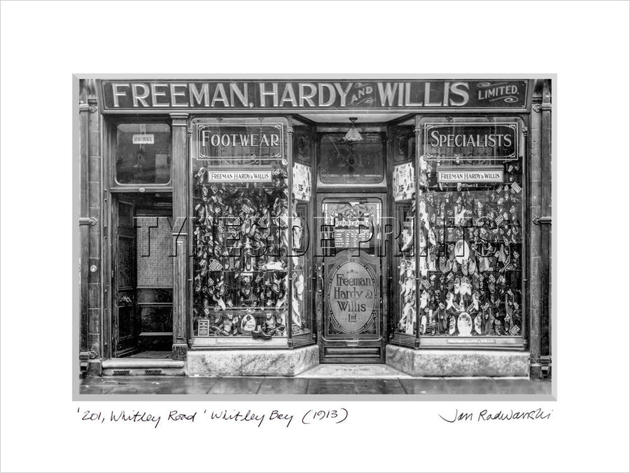 The Shoe Shop Whitley Bay 1912 Mounted Fine Art Print