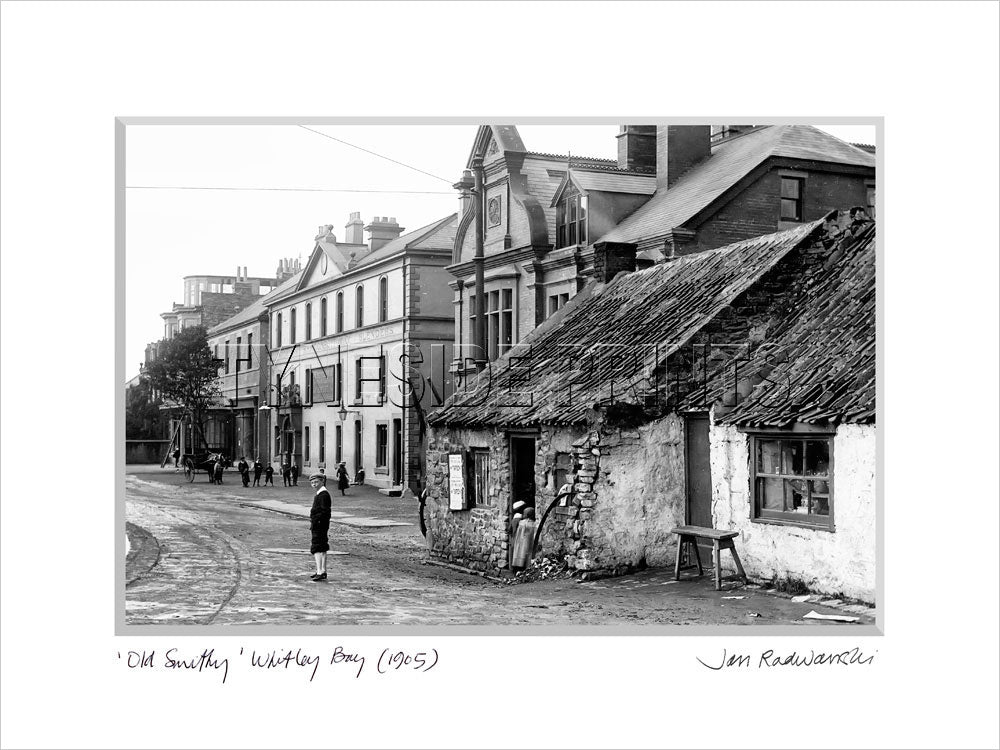 Old Smithy Whitley Bay 1905 Mounted Fine Art Print