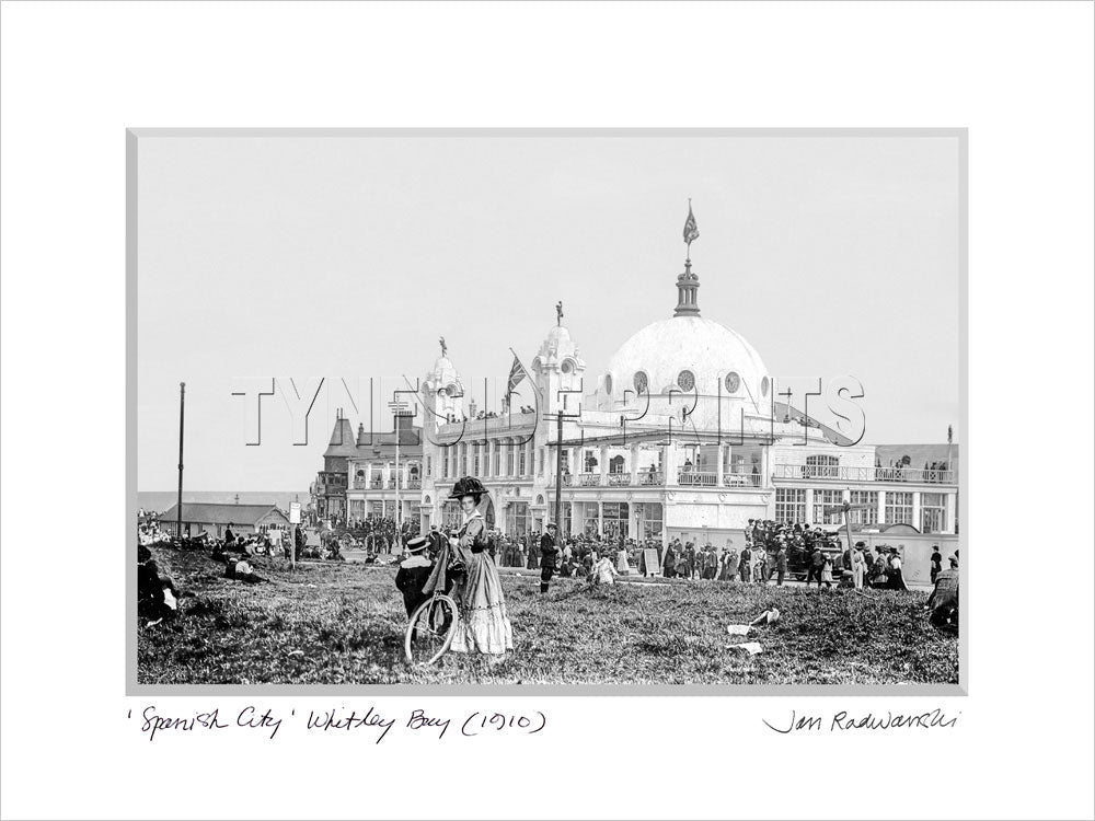 Spanish City Whitley Bay 1910 Mounted Fine Art Print