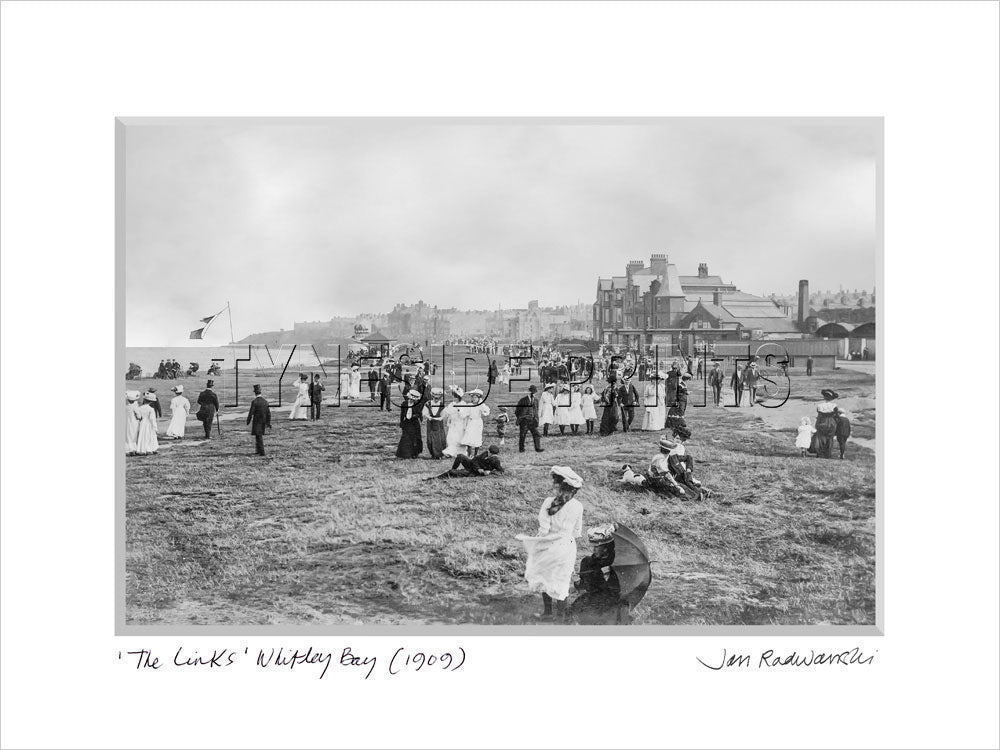 The Links Whitley Bay 1909 Mounted Fine Art Print