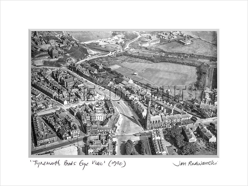 Tynemouth Bird's Eye View 1920 Mounted Fine Art Print