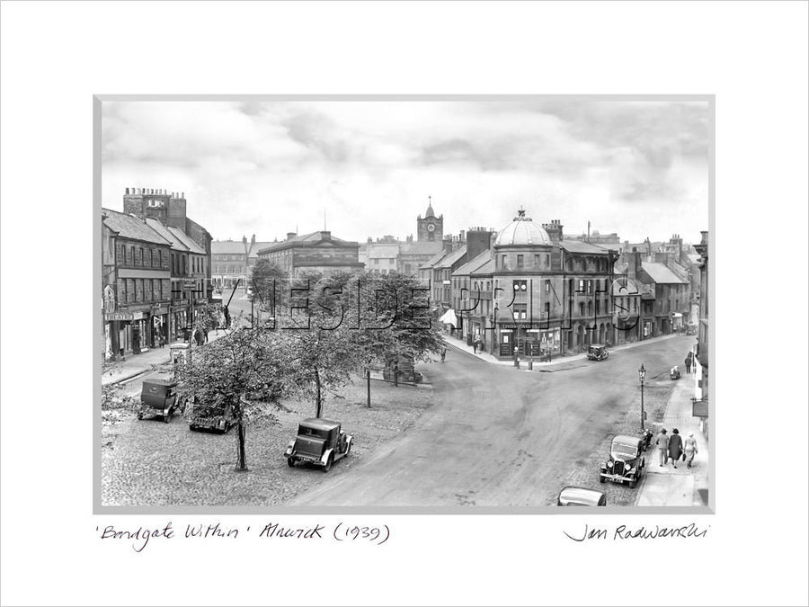 Bondgate Within Alnwick 1939 Mounted Fine Art Print