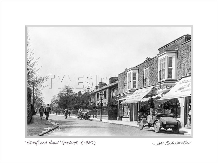 Elmfield Road Gosforth 1925 Mounted Fine Art Print