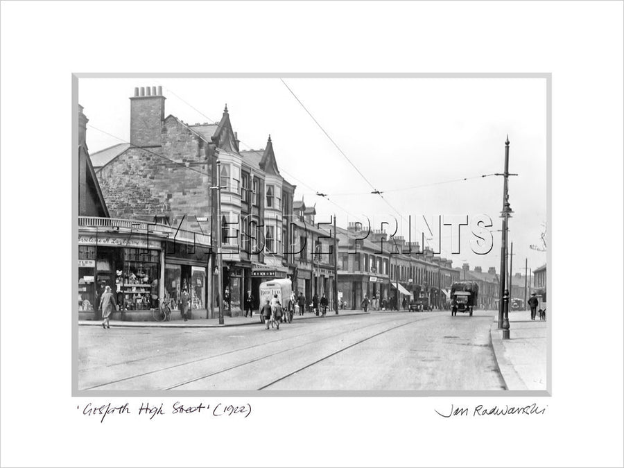 Gosforth High Street 1922 Mounted Fine Art Print