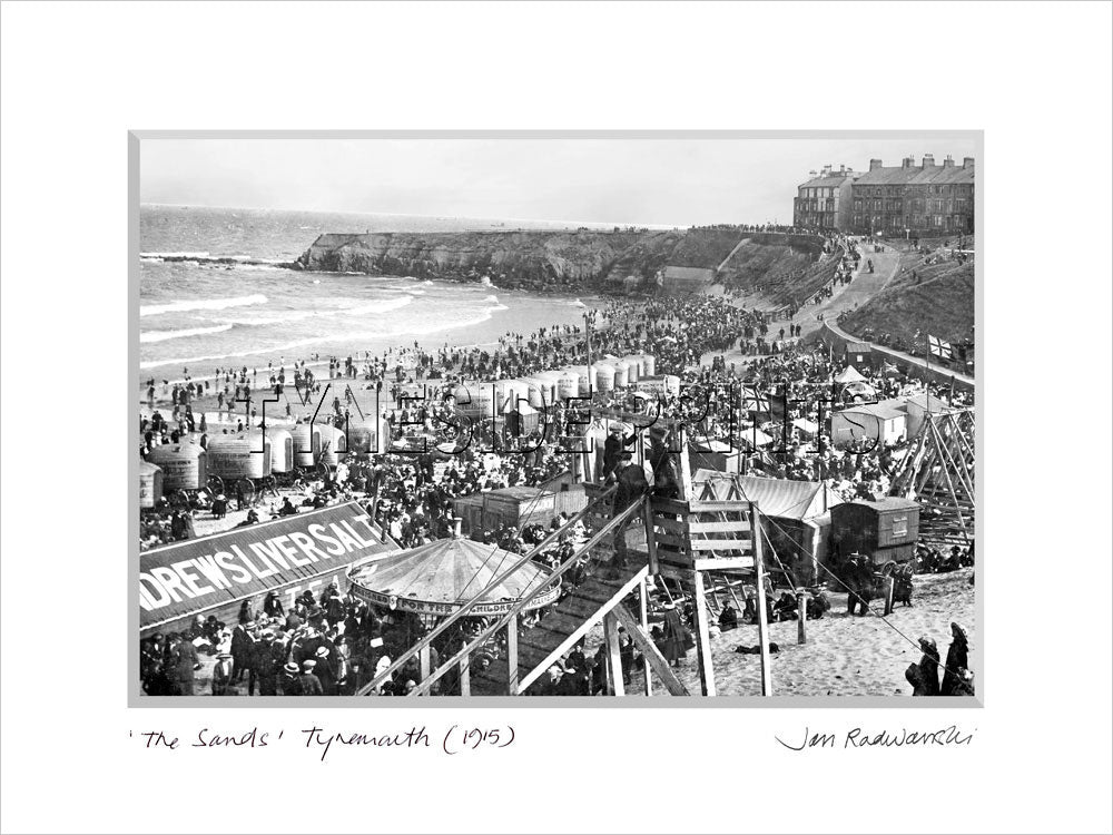 The Sands Tynemouth 1915 Mounted Fine Art Print