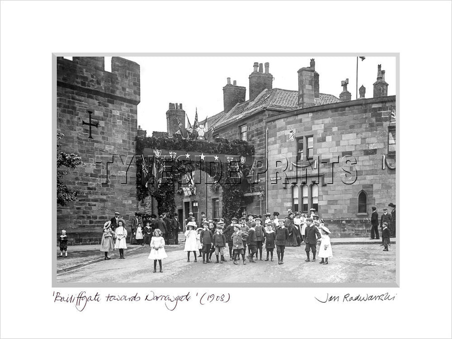 Bailiffgate Towards Narrowgate Alnwick 1908 Mounted Fine Art Print
