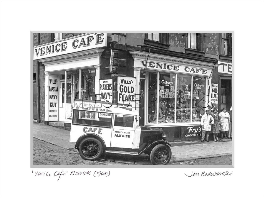 Venice Cafe Alnwick 1960 Mounted Fine Art Print
