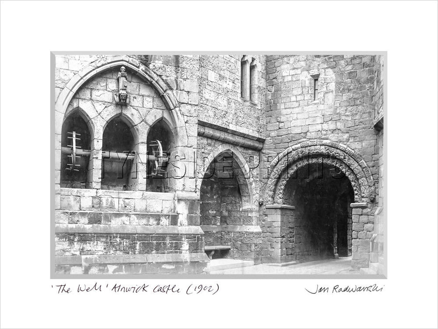 The Well Alnwick Castle 1902 Mounted Fine Art Print