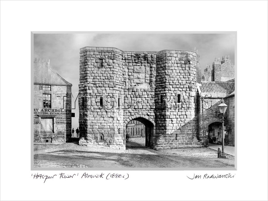Hotspur Tower Alnwick 1880's Mounted Fine Art Print