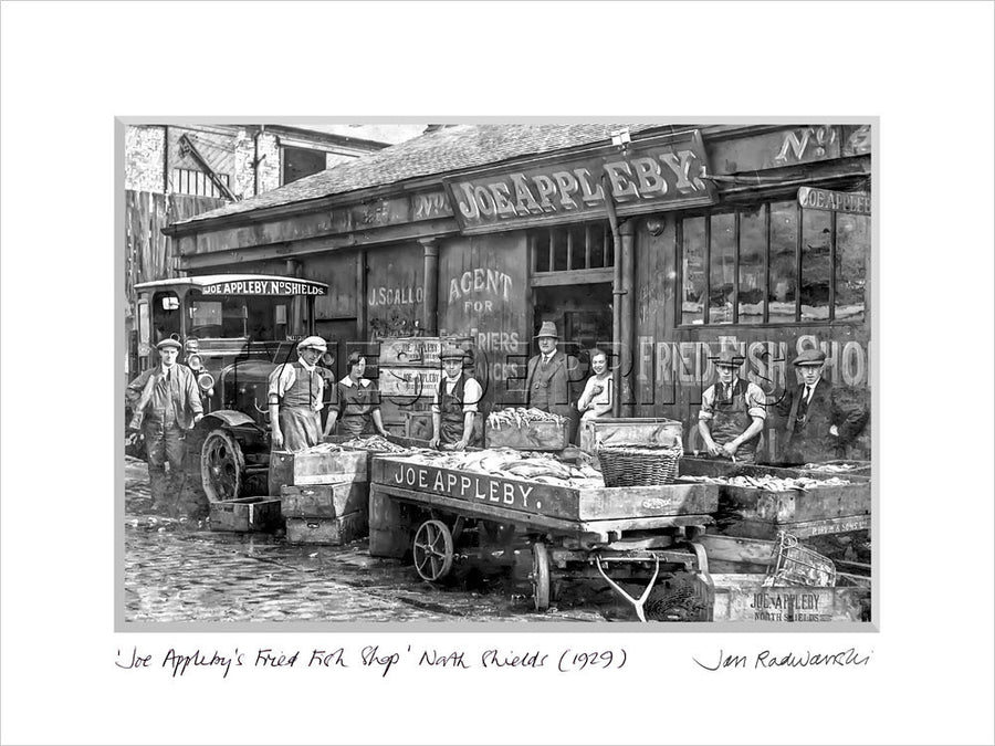 Joe Appleby Fried Fish Shop North Shields 1912 Mounted Fine Art Print