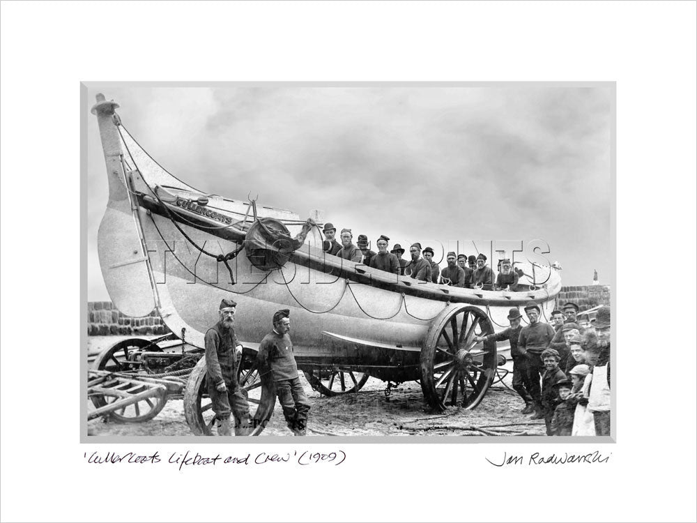 Cullercoats Lifeboat Crew 1909 Mounted Fine Art Print