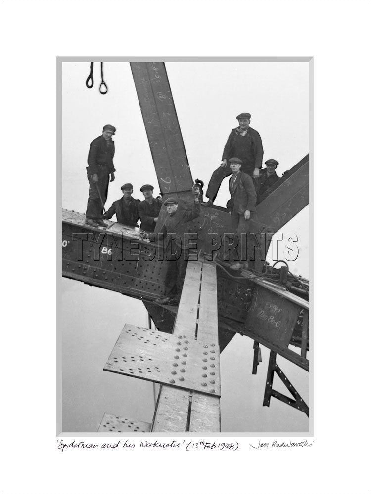 Spiderman and his Workmates Tyne Bridge 1928 - Mounted Fine Art Print