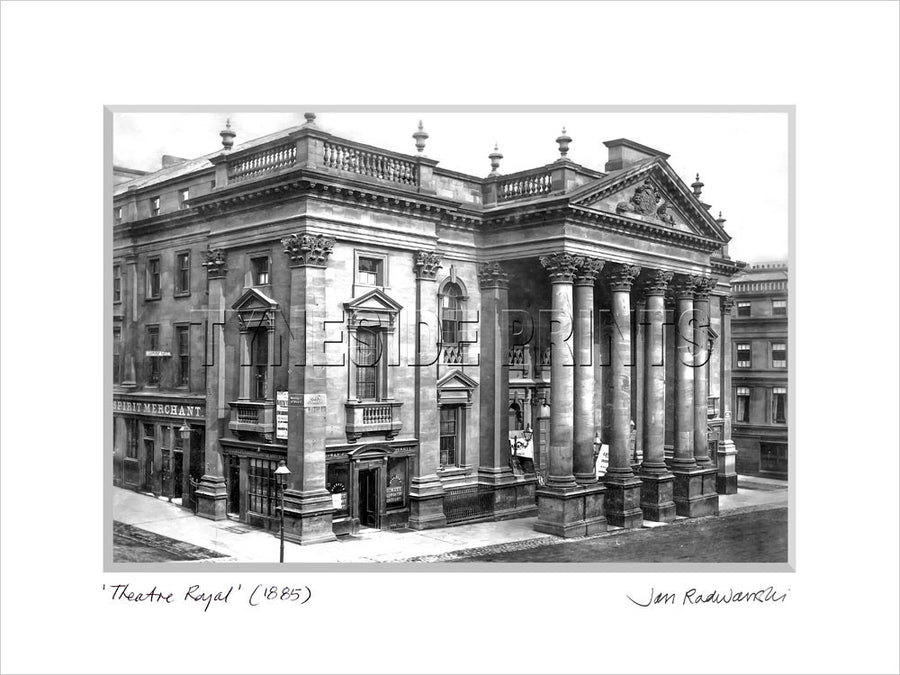 Theatre Royal Newcastle 1885 Mounted Fine Art Print