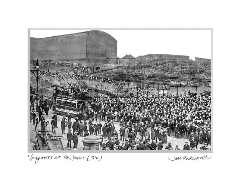 Newcastle United Supporters St. James' Park 1910 Mounted Fine Art Print