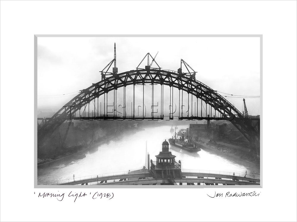 Morning Light Tyne Bridge Newcastle 1928 Mounted Fine Art Print