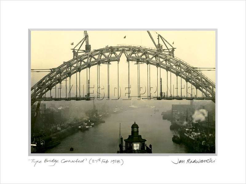 Tyne Bridge Connected 1928 - Mounted Fine Art Print