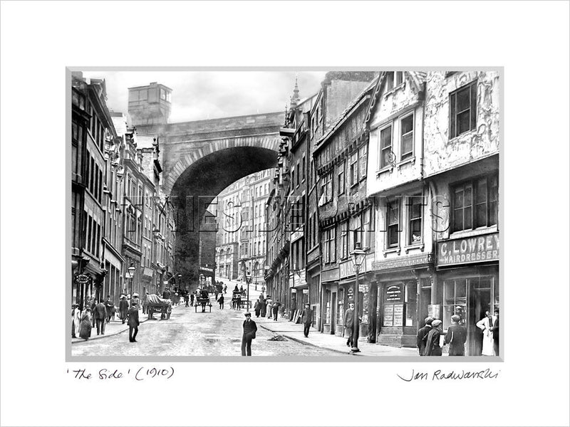 The Side Newcastle 1910 - Mounted Fine Art Print