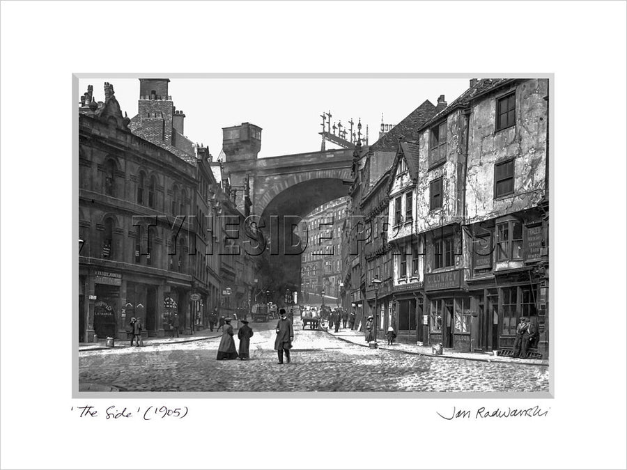 The Side Newcastle 1905 Mounted Fine Art Print