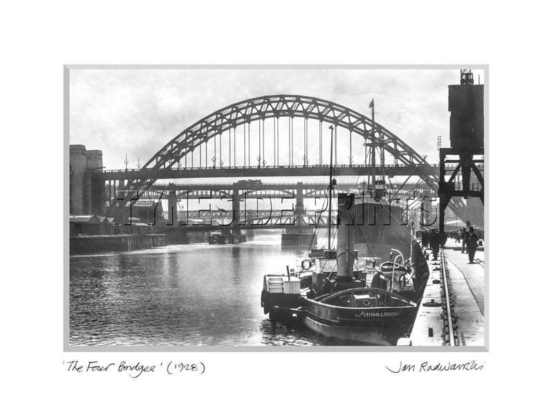 The Four Bridges Newcastle 1928 Mounted Fine Art Print
