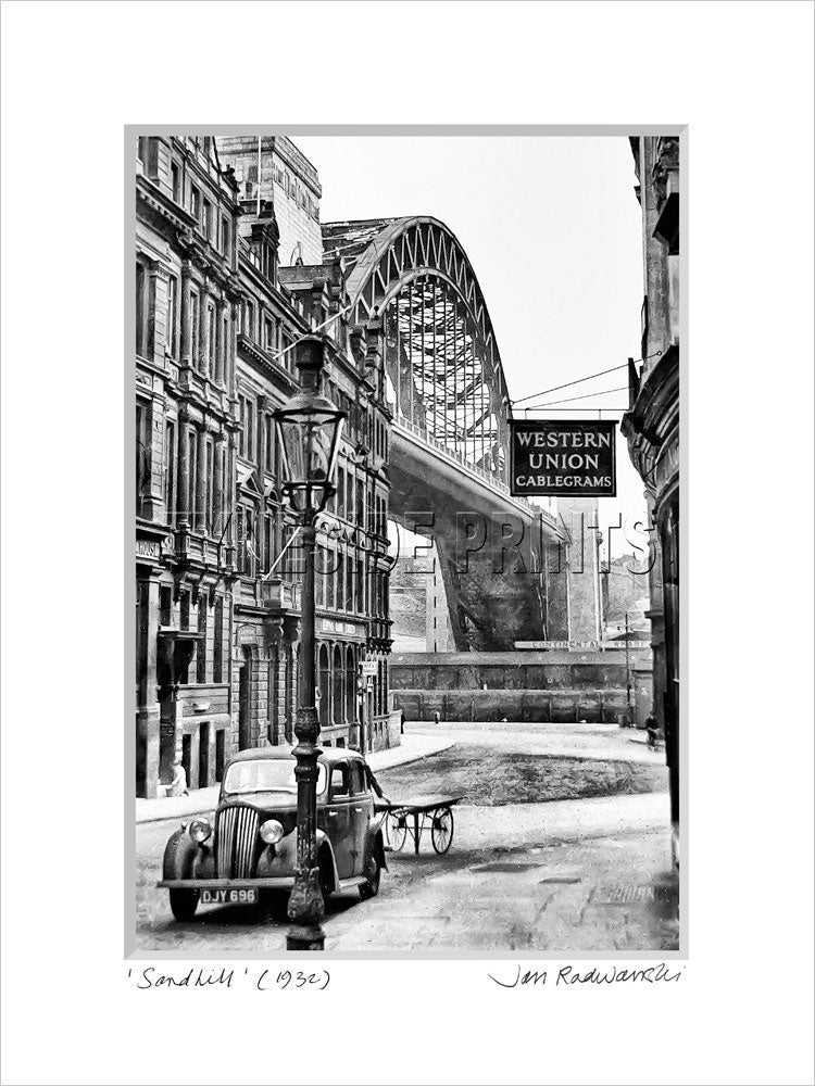 Sandhill Tyne Bridge Newcastle 1932 - Mounted Fine Art Print
