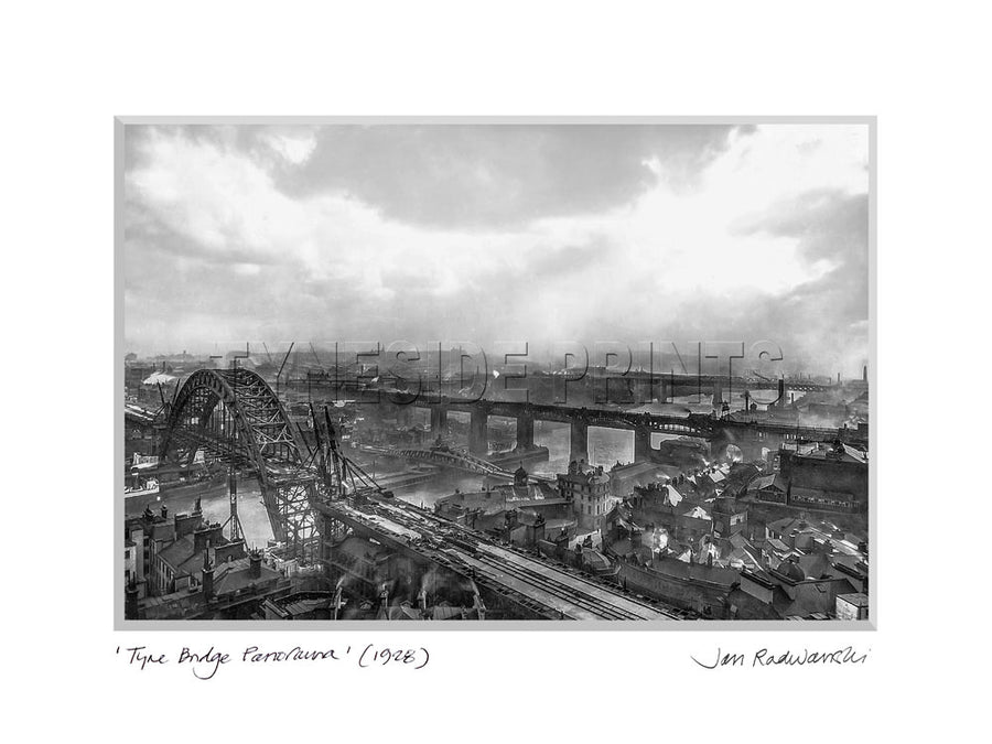 Tyne Bridge Panorama 1928 Mounted Fine Art Print