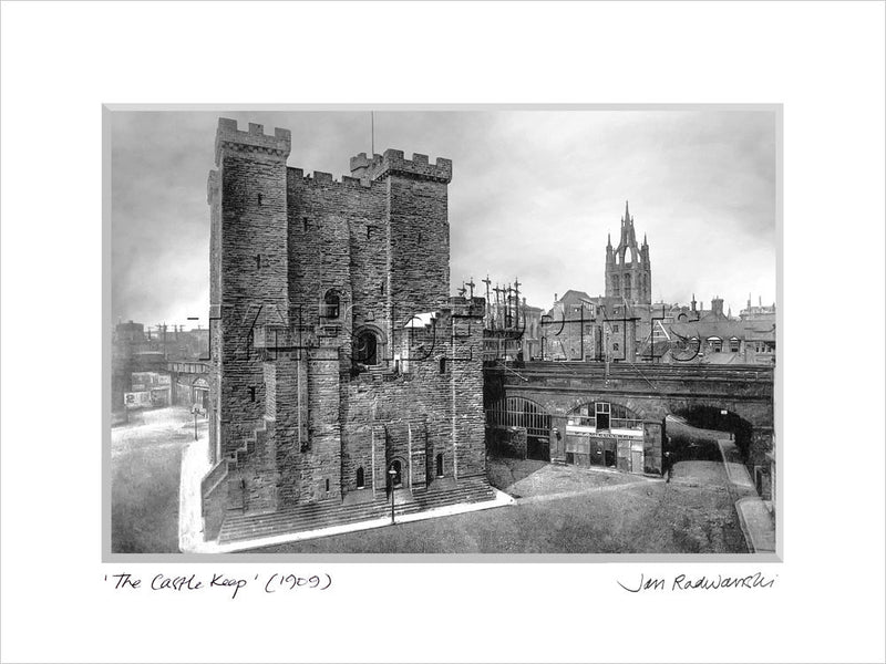The Castle Keep Newcastle 1909 Mounted Fine Art Print