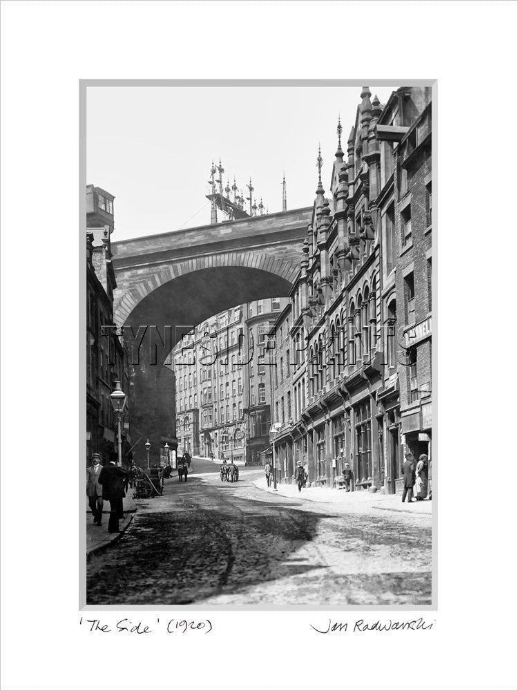 The Side Newcastle 1920 Mounted Fine Art Print