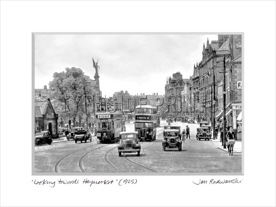 Looking Towards Haymarket Newcastle 1925 Mounted Fine Art Print