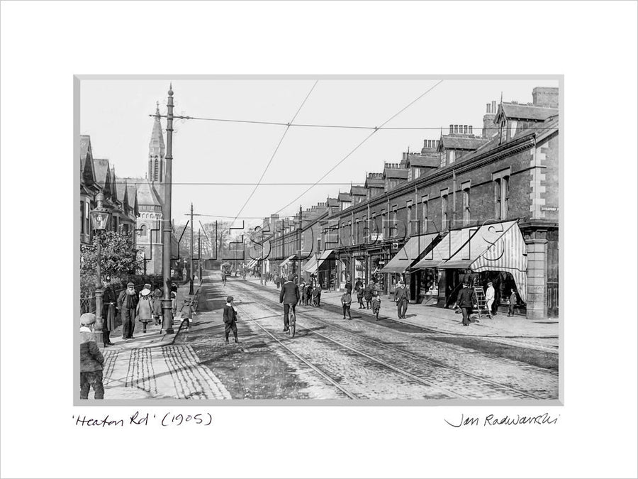 Heaton Road Newcastle 1905 Mounted Fine Art Print
