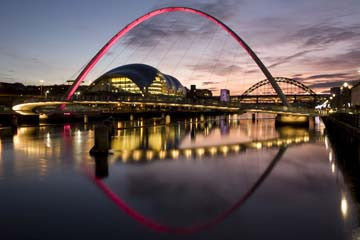 The Quayside At Night | Colour Photographic Print | Tyneside Prints