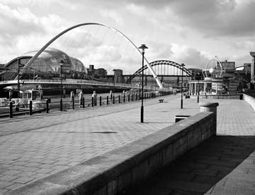 Millennium Bridge & Tyne Bridge | Black & White Photographic Print | Tyneside Prints