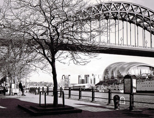 Tyne Bridge & The Sage | Black & White Photographic Print