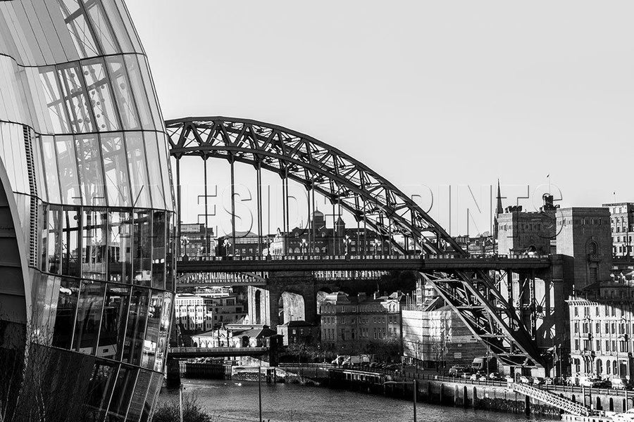 Tyne Bridge and Sage Photographic Print