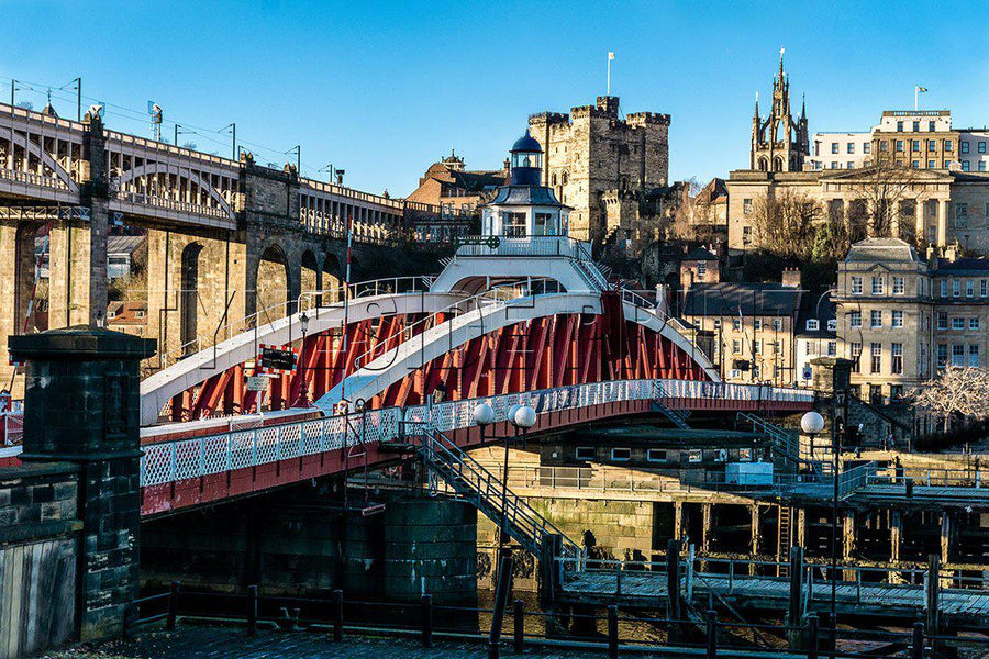 Swing Bridge and Castle Keep - Photographic Print
