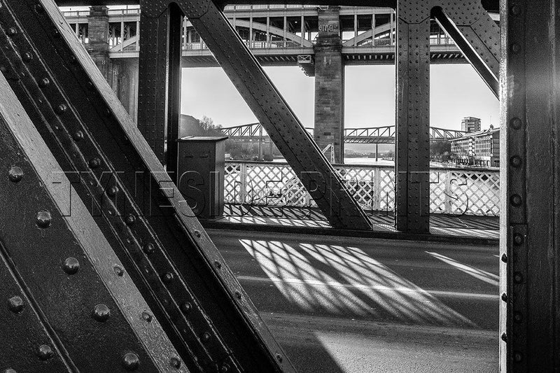 Looking Through The Swing Bridge Photographic Print