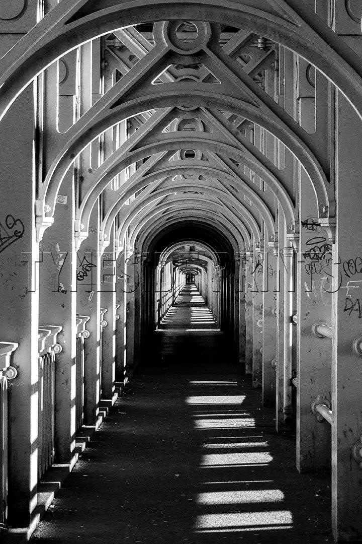 High Level Bridge Walkway - Photographic Print