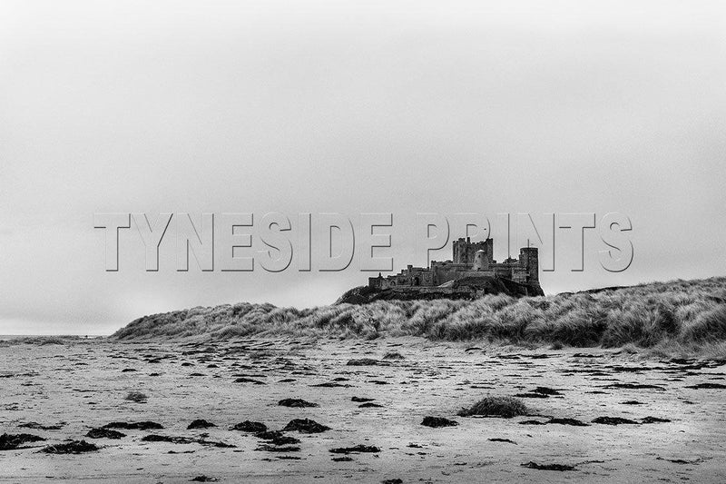 Bamburgh Castle and Beach Photographic Print