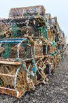 Craster Lobster Pots Photographic Print