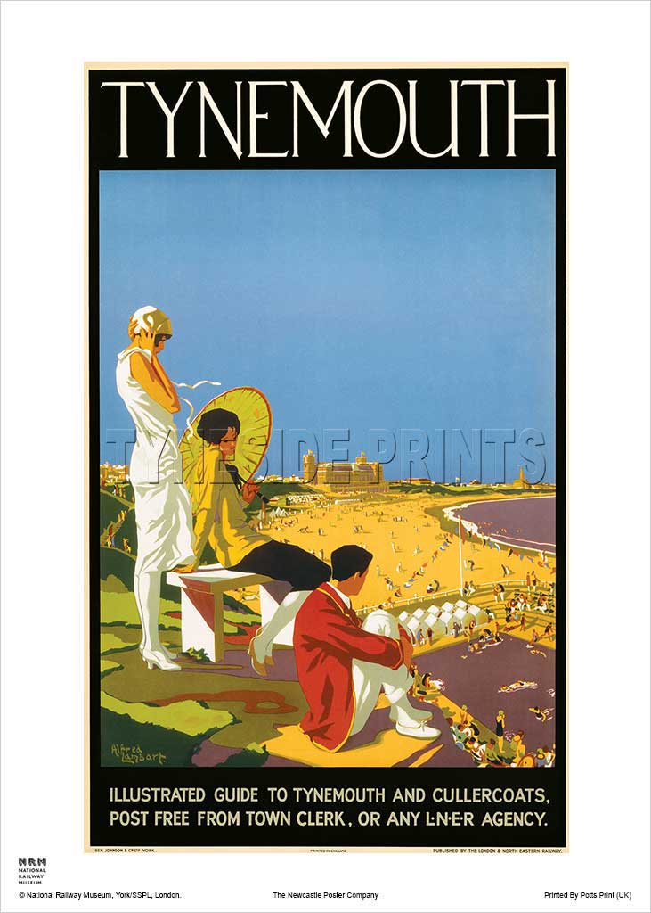 Tynemouth LNER Railway Travel Poster