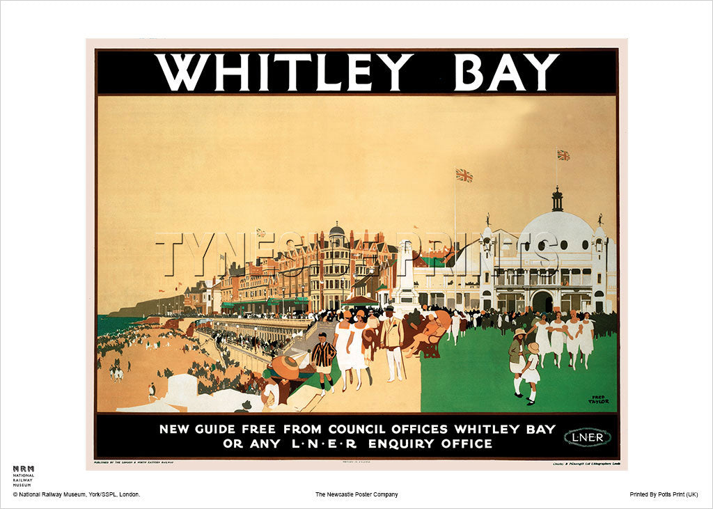 Whitley Bay Spanish City Railway Travel Poster