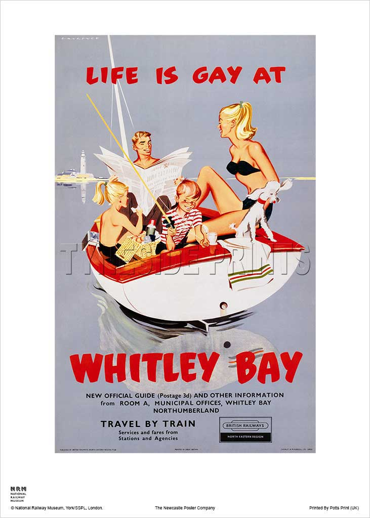 Life Is Gay At Whitley Bay - Railway Travel Poster