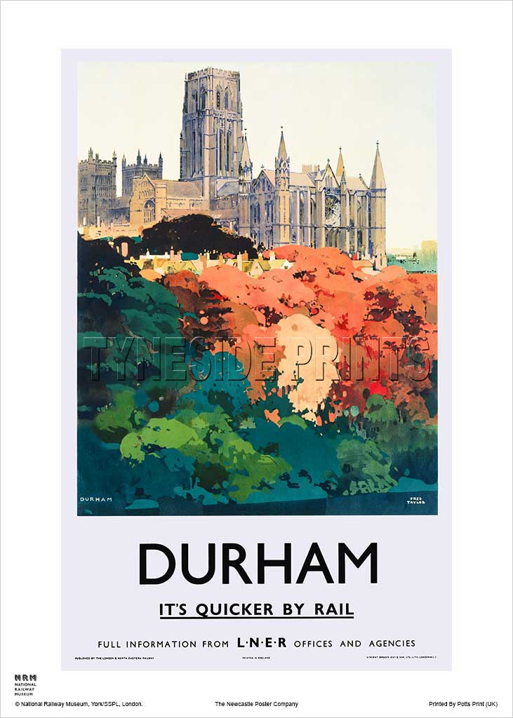 Durham Cathedral - Railway Travel Poster