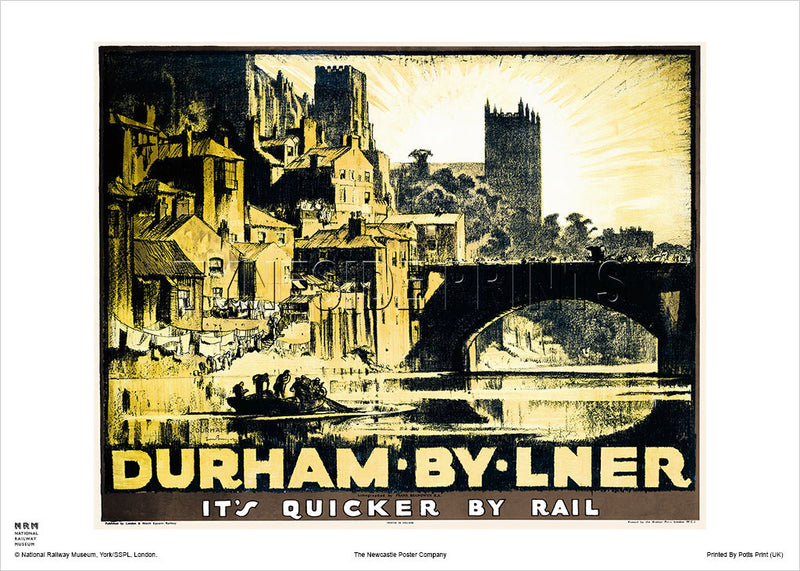 Durham By LNER - Railway Travel Poster