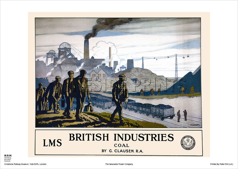 Durham Coalfields - British Industries - Railway Travel Poster