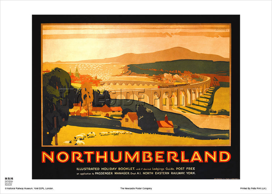 Royal Border Bridge - Northumberland - Railway Travel Poster