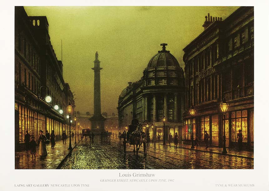 Grainger Street Newcastle Upon Tyne Louis Grimshaw 1902 Poster