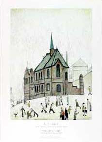Old Chapel Horatio Street Newcastle L.S. Lowry 1965 Museum Poster