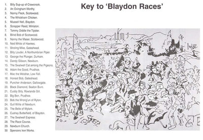 Blaydon Races A Study From Life 1903 William C Irving Poster Key